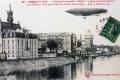 1907 2 Dirigeable Patrie, au dessus des graznds moulins et de l'hotel de ville, 9 nov 1907