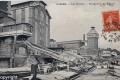 1908 Les moulins, déchargement des bateaux